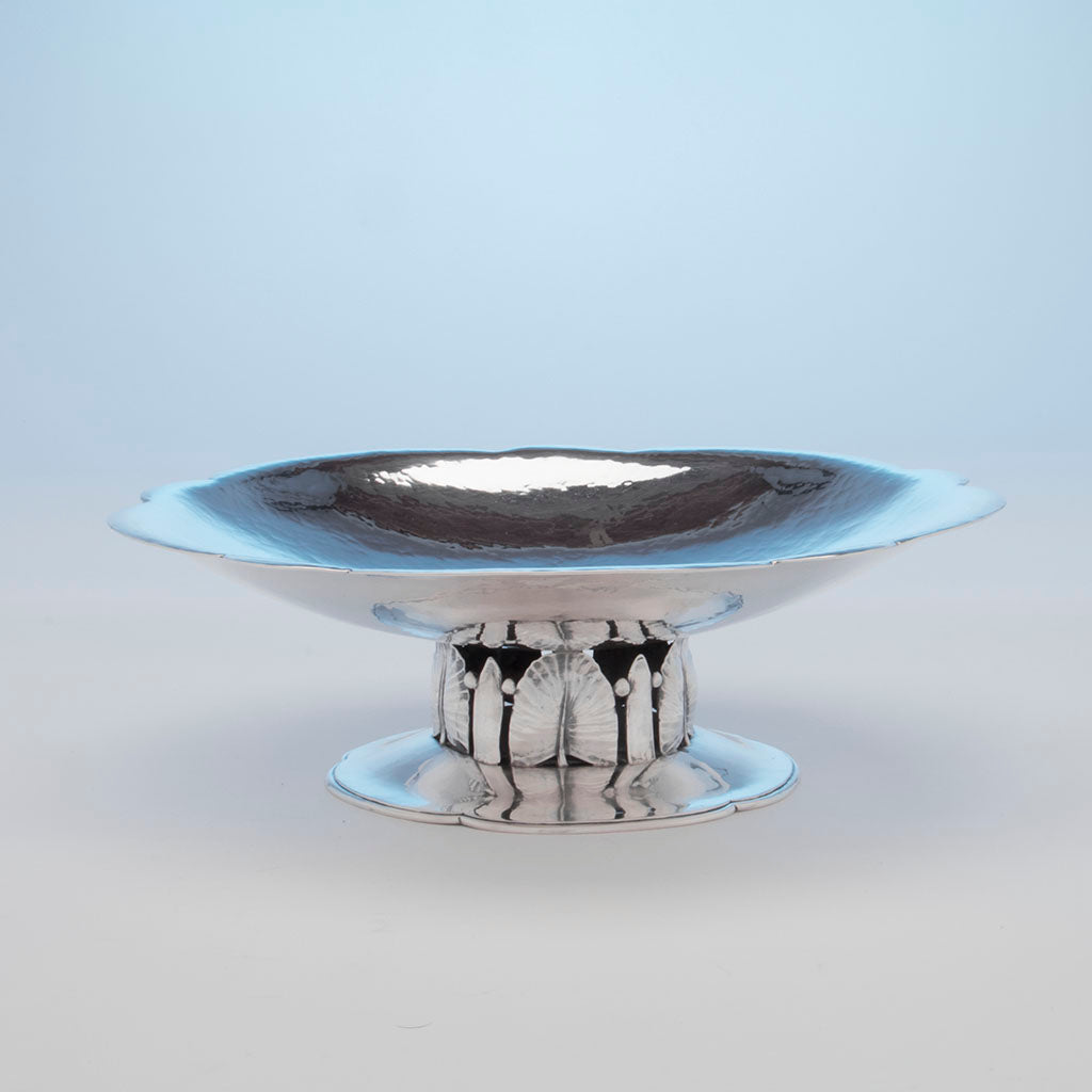 Schaeffer, Lona P. Arts and Crafts Sterling Silver Centerpiece, NYC, c. 1930's