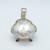 Front of Shiebler Antique Sterling and 14k Medallion Bonbon Dish, NY, c. 1880's