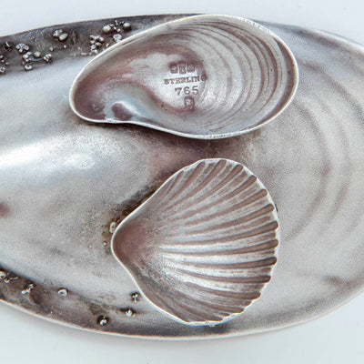 Marks on Gorham Antique Sterling Silver Salted Almond Dish with Serving Spoon, Providence, Ri, 1881