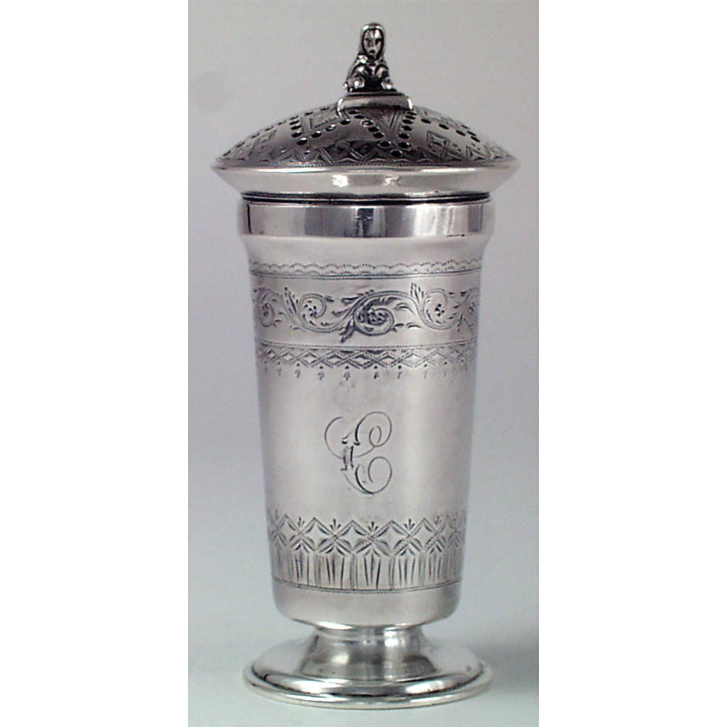 Kirk 11 oz Egyptian Revival Muffineer c. 1870