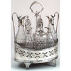 Peter & Ann Bateman Antique Sterling and Crystal Cruet Set, London, 1795/96