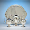 Tray standing with Lebolt Arts & Crafts Sterling Silver & Gold Coffee Service, Chicago, IL, c. 1920's