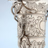 Handle on Bailey & Co. Antique Sterling Silver Repousse Snake-handled Vase, Philadelphia, PA, c. 1850