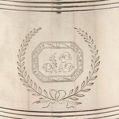 Engraving on Bailey & Co. Antique Coin Silver Covered Jug, Philadelphia, PA, c. 1840's