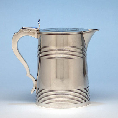 Bailey & Co. Antique Coin Silver Covered Jug, Philadelphia, PA, c. 1840's