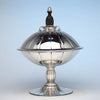Erik Magnussen for Gorham Large Covered Centerpiece Compote with Ebony Finial, Providence, RI, 1926