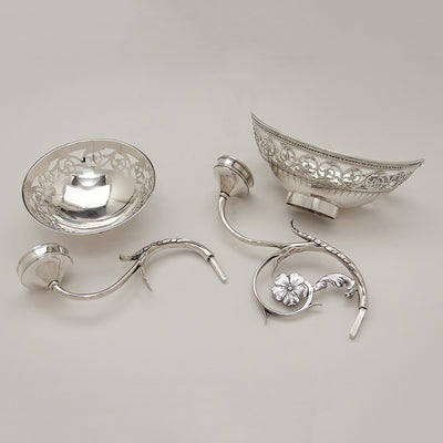 Robert Hennell George III Antique Sterling Silver 7-Basket Epergne, London, 1787/88