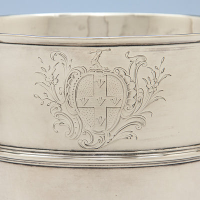 Armorial on George Fuller White George II Sterling Silver 2-handled Cup, London, 1750/51