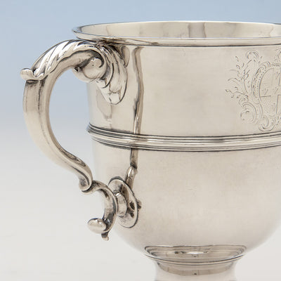 Handle to George Fuller White George II Sterling Silver 2-handled Cup, London, 1750/51