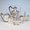 Robert & David Hennell, Henry Chawner George III Sterling Coffee and Tea Service, London 1795/96