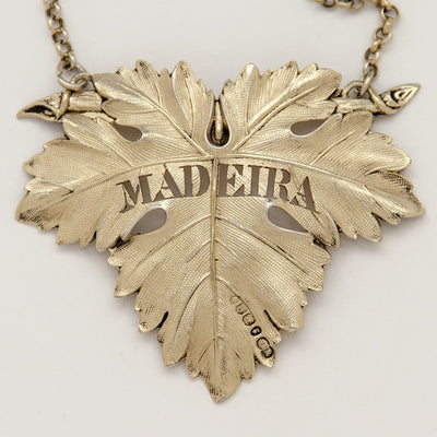 Detail of William Ker Reid George IV Antique Sterling Silver 'Madeira' Decanter Label, London, 1828/29