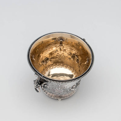Interior of Gorham Antique Coin Silver Waste Bowl, Providence, RI, c. 1870s