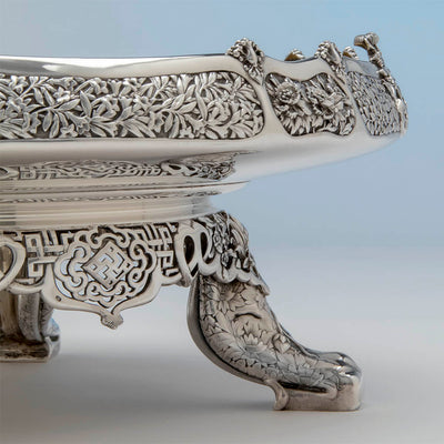 Leg detail of the Tiffany & Co. Parcel Gilt Antique Sterling Ice Cream Service from The Mackay Service, NYC, c. 1978,