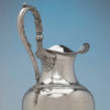 Baldwin Gardiner Antique Silver Presentation Ewer, NYC, c. 1830's