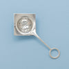 Franklin Porter Signed Sterling Silver Arts & Crafts Tea Strainer, RI or MA, 1910-24