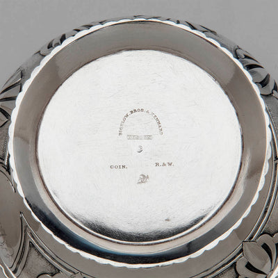 Marks on Rogers and Wendt Antique Coin Silver Butter Dish, Boston, MA, c. 1855-60