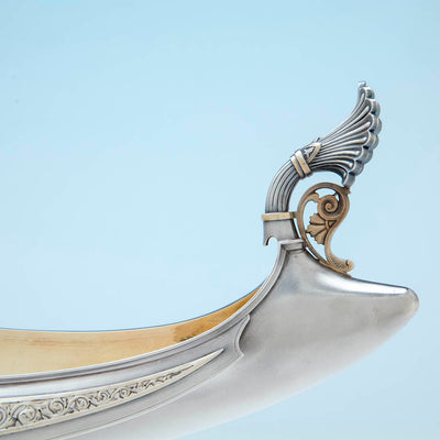 Handle to Whiting Antique Sterling Silver Figural Centerpiece, NYC, c. 1875-80