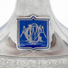 Monogram on Whiting Antique Sterling Silver Figural Centerpiece, NYC, c. 1875-80