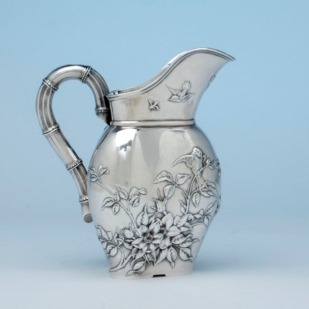 Durgin Antique Sterling Silver Aesthetic Pitcher, Concord, NH, c. 1870's