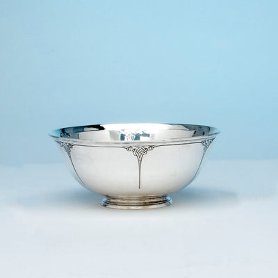 Arthur Stone Arts & Crafts Sterling Silver Decorated Bowl, Gardner, Massachusetts, 1909-19