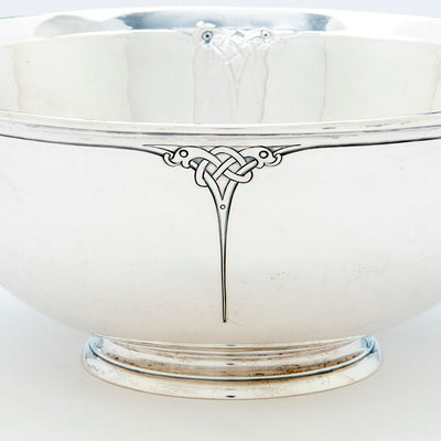 Detail of Arthur Stone Arts & Crafts Sterling Silver Decorated Bowl, Gardner, Massachusetts, 1909-19