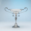 Side compote of Wood and Hughes Antique Sterling Figural Garniture Suite, NYC, c. 1870's