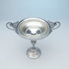 Large compote to Wood and Hughes Antique Sterling Figural Garniture Suite, NYC, c. 1870's