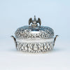 A. E. Warner Antique Sterling Silver Butter Dish, Baltimore, MD, c. 1840