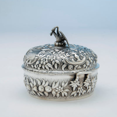 Andrew Ellicott Warner Antique Sterling Silver Butter Dish, Baltimore, MD, c. 1840