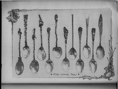 Catalog image of Gorham Rare Original Set of 12 Antique Sterling Silver Five O'clock Tea Spoons, Providence, RI, c. 1888