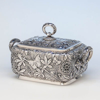 Dominick & Haff Antique Sterling Silver Aesthetic Movement Covered Tureen, New York City, 1881