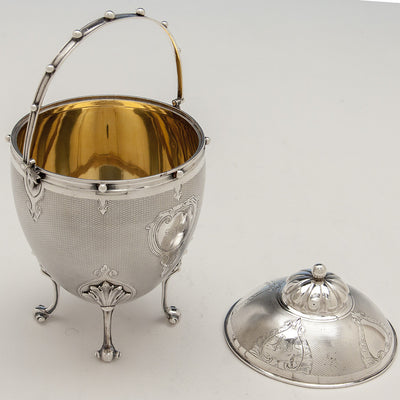 Interior of Gorham Antique Coin Silver Covered Sugar Bowl, Providence, RI, 1859 of Rhode Island historical interest