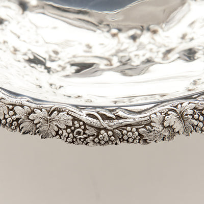 Applied border to William Gale & Son Antique Coin Silver Fruit or Centerpiece Bowl, New York City, 1856