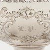 Monogram on William Gale & Son Antique Coin Silver Fruit or Centerpiece Bowl, New York City, 1856