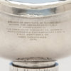 Inscription on Hans Christensen Modern Sterling Silver Presentation Compote, Rochester, New York, c. 1976