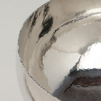 Edge of Hans Christensen Large Modern Sterling Silver Compote, Rochester, New York, c. 1970