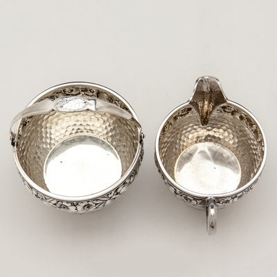 Interior of Durgin Antique Sterling Silver Creamer & Sugar, Concord, NH, c. 1880's