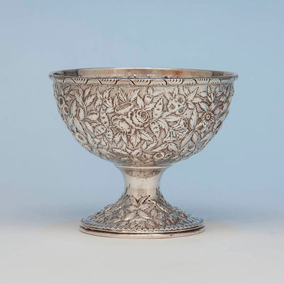 S. Kirk & Son 11oz Silver Antique Repoussé Bowl, Baltimore, 1869-91