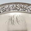 Monogram on Theodore B. Starr Antique Sterling Silver Centerpiece, Berry or Fruit Bowl, New York City, c. 1870's