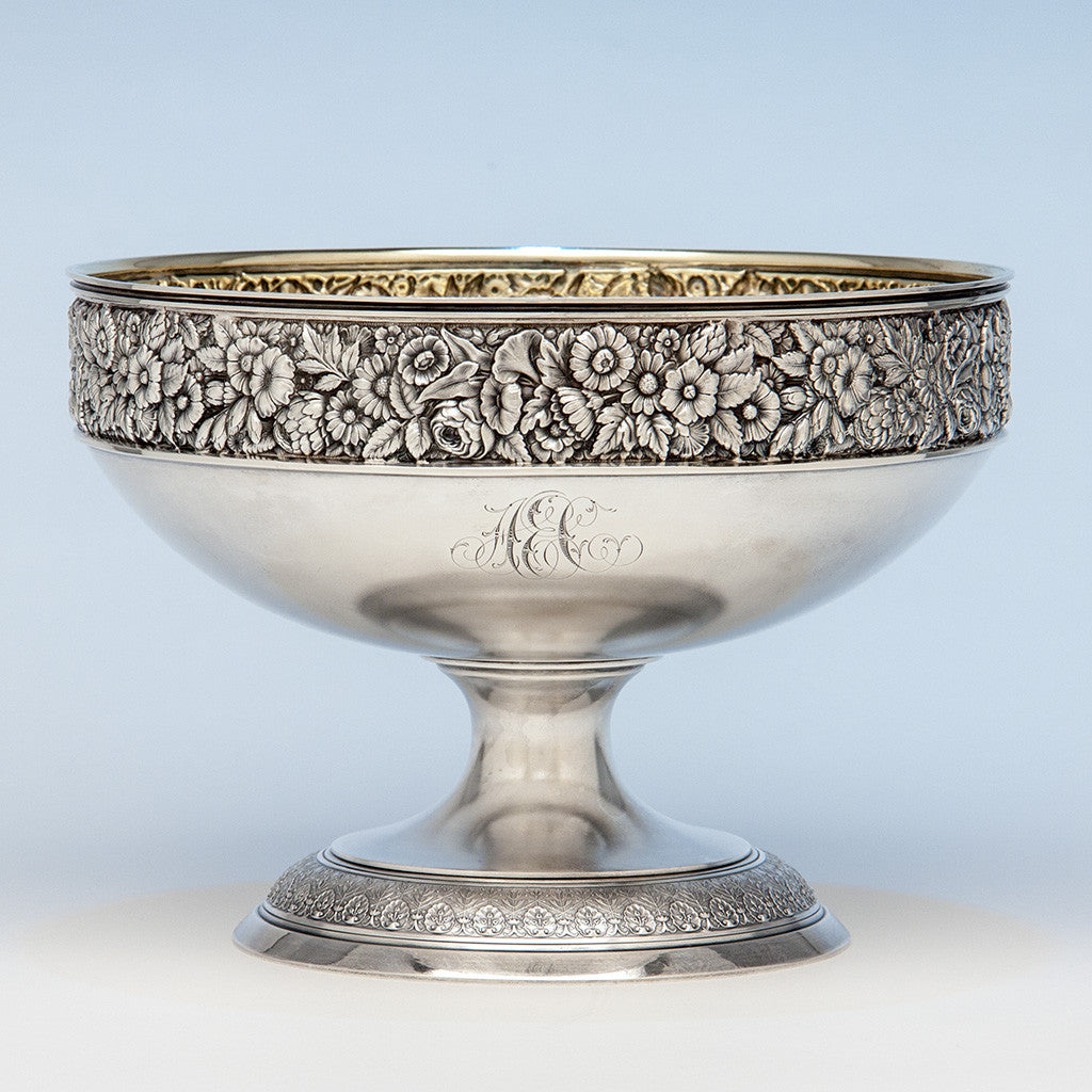 Theodore B. Starr Antique Sterling Silver Centerpiece, Berry or Fruit Bowl, New York City, c. 1870's