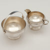 Interior of American Antique Sterling Creamer and Sugar, retailed by DH Buell, Hartford, CT, c. 1875