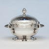 Tiffany & Co. Ivy Engraved Antique Sterling Silver Covered Butter Dish, New York City, 1865-70