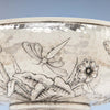Dragonfly on Peter L. Krider Antique Aesthetic Movement Sterling Silver Salad or Fruit Bowl, Philadelphia, PA, c. 1880's