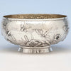 Peter L. Krider Antique Aesthetic Movement Sterling Silver Salad or Fruit Bowl, Philadelphia, PA, c. 1880's