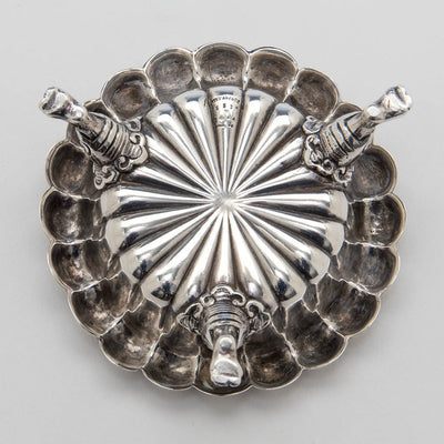 Underside of Tiffany & Co Set of 4 Antique Sterling Silver Master Salts, NYC, c. 1882
