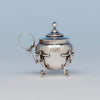 John Wendt (attr) Antique Sterling Silver Mustard Pot, NYC, c. 1870