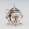 Detail of John Wendt (attr) Antique Sterling Silver Mustard Pot, NYC, c. 1870