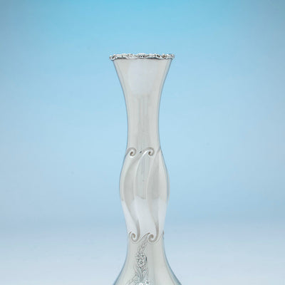 Neck on Gorham Antique Sterling Silver Vase, Providence, RI, 1892