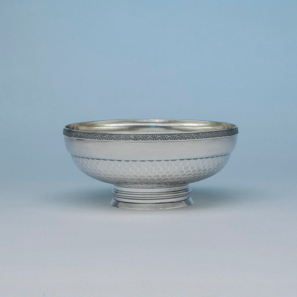 Wood & Hughes Antique Sterling Silver Aesthetic Movement Bowl, New York City, NY, c. 1880