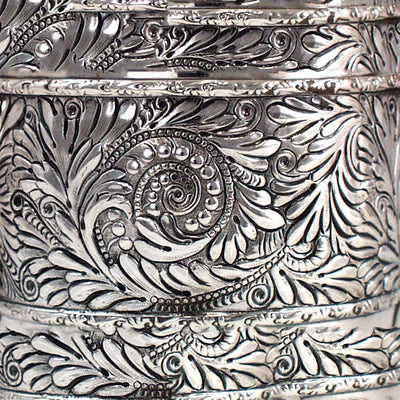 Detail of Duhme Sterling Silver Rare Aesthetic Movement Black Coffee Pot, Cincinnati, c. 1892